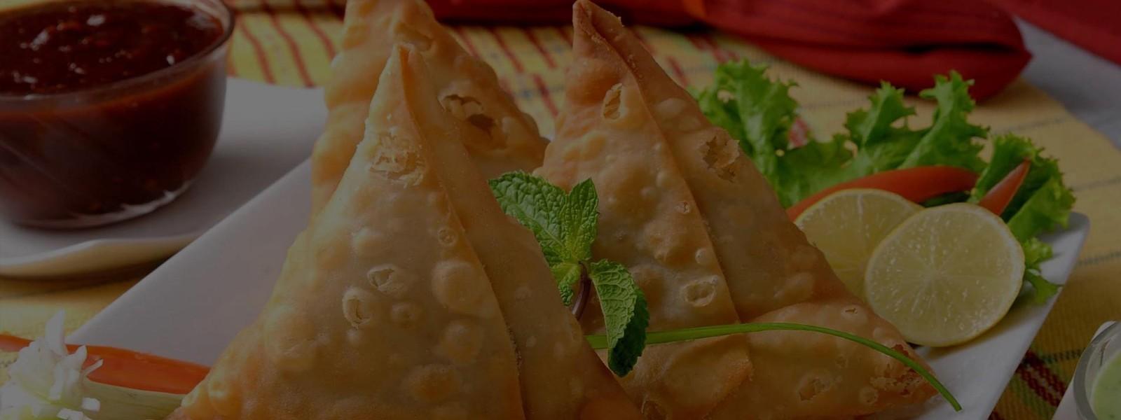 Now Serving samosas Vegetable samosas & Chicken samosas 11:30 AM to 5:30 PM